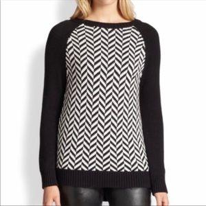MICHAEL Michael Kors Black Herringbone Sweater